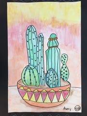 Artwork by Avery Williams, grade 4.