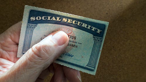 Stock image of social security card.
