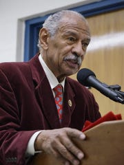U.S. Rep. John Conyers, D-Detroit, spoke at the Jefferson Barns Community Vitality Center dedication ceremony.