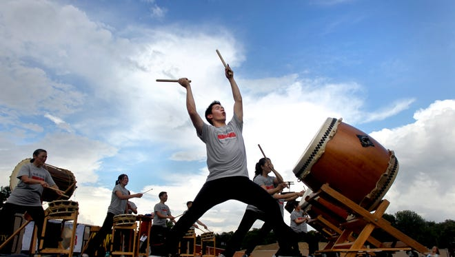 San Jose Taiko performs May 14 at the Des Moines Civic Center.