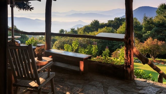 A view from the Swag, a luxury resort bordering the Great Smoky Mountains National Park.