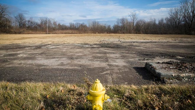 An empty lot marked the site of the former Budget Inn on Dr. Martin Luther King Jr. Boulevard in Muncie in December..
