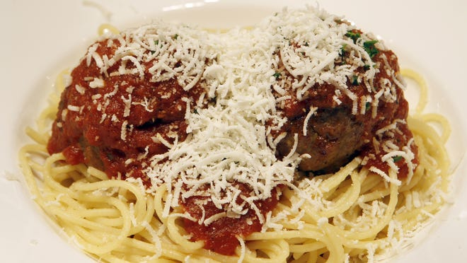 Nana's spaghetti and meatballs by Favorites Steak and Pasta at Belterra Park Gaming and Entertainment Center in Anderson Township.
