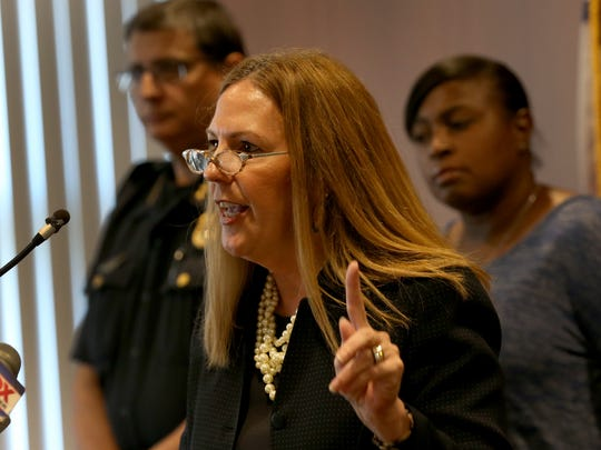 Sandra Doorley, Monroe County District Attorney, discusses the arrest of Quartermain D. Titus, who fired a .22-caliber handgun at the scene.