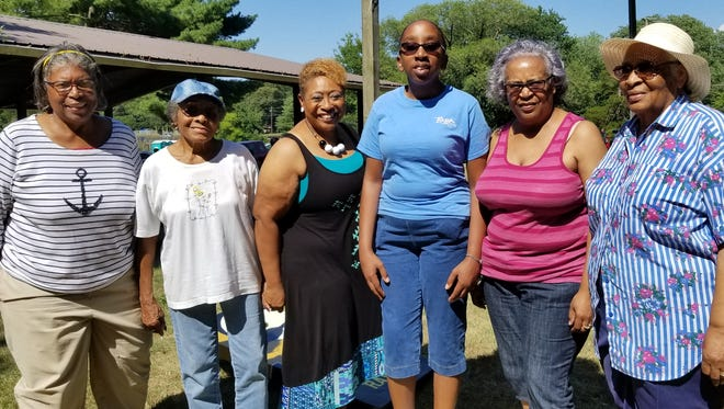Members of the Polk family gathered at their family reunion on Saturday, July 14, 2018.