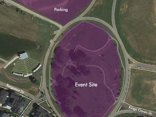 Parking map for the Courier-Journal's Food & Wine Experience,
