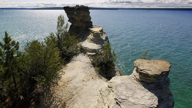Pictured Rocks National Lakeshore is located along Lake Superior from Munising east to Grand Marais.
