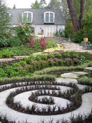 Many people associate a labyrinth with a maze. A maze is meant to be a puzzle, a labyrinth is a contemplative walk.