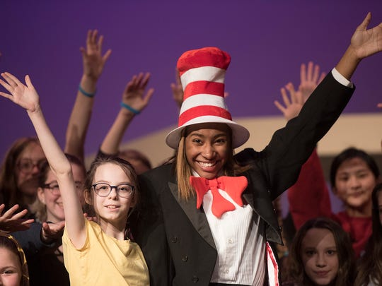 The Cat In The Hat is Teanna Barnes. Jojo is played by Brooke MacIntyre.