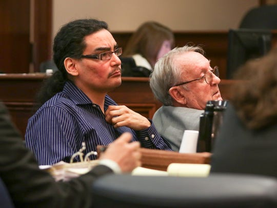 Derek M. Vicchitto looks on during his trial on Tuesday.