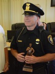 Battle Creek Officer of the Year Todd Rathjen.
