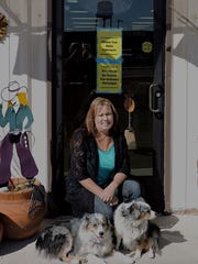 Wendy Church and her furry family pose in front of