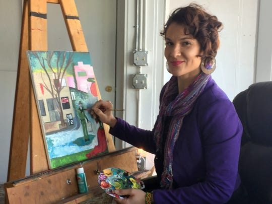 Wellness Consultant Christal Spencer will offer free art classes at her studio, as long as students bring their own supplies.