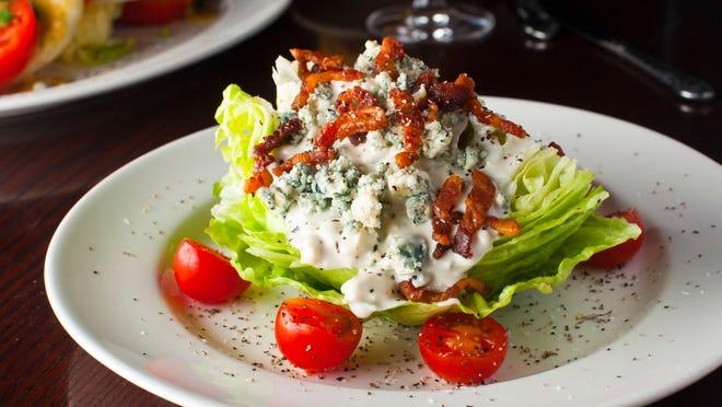 Sullivan's Steak House menu includes this blue cheese lettuce wedge.