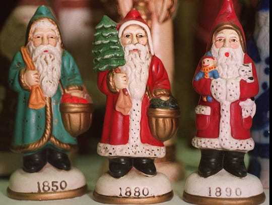 Various Santas are part of the holiday celebrations