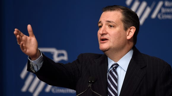 Ted Cruz speaks at the Republican Jewish Coalition