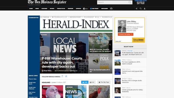 The new Altoona Herald-Index