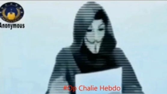 "Hacker group Anonymous released a video and a statement Friday, threatening cyber-retaliation for the  attacks on ""Charlie Hebdo."""