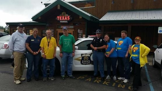 Personnel from the Indiana State Police Pendleton Post will collect gratuities Wednesday night at Texas Roadhouse for Special Olympics.