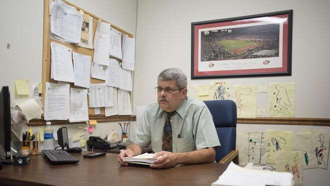 Ross County Prosecutor's Office Investigator Rick Hannan talks about his career in his office surrounded by drawings made by his grandchildren. A wish to spend more time with his grandchildren prompted his decision to retire after nearly 40 years working with the county's criminal justice system,