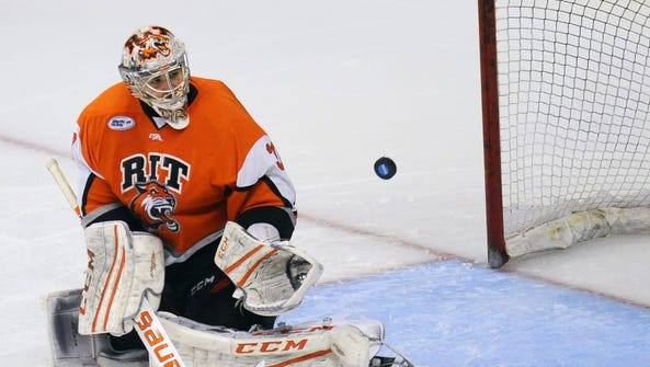Rochester Institute of Technology goalie Mike Rotolo