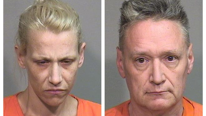 This combination of undated photos provided by the McHenry County Sheriff's Department in Woodstock, Ill., on Thursday, April 25, 2019 shows JoAnn Cunningham, left, and Andrew Freund Sr.