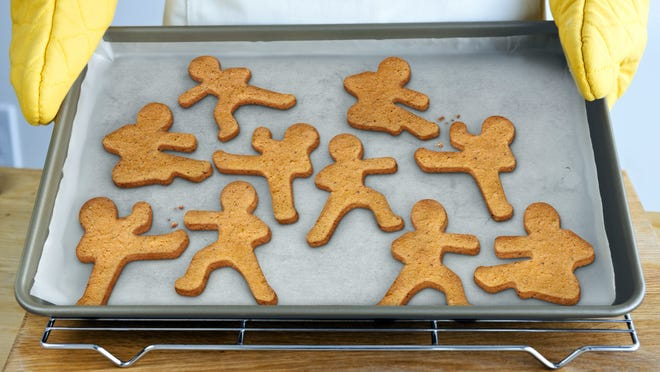 Grandparents miss doing things like baking -- in this case with Ninjabread Men cookie cutters from Fred & Friends.
