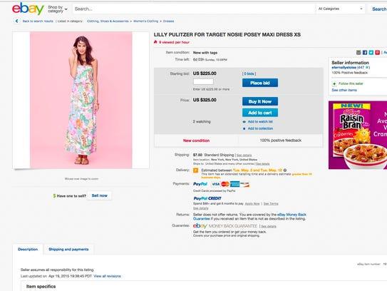 The dress originally sold for $34.