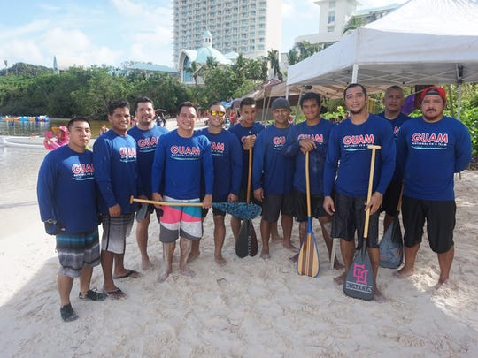 Members of the Guam national men's paddling team trained for the Pacific Games by competing at a local race at Lotte Hotel Guam on June 6.