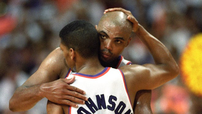 The brash Charles Barkley told reporters in 1993 he would go to church with Kevin Johnson if Johnson would go to a strip club with him.
