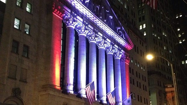 The New York Stock Exchange during New York Fashion Week on Feb. 10, 2014.
