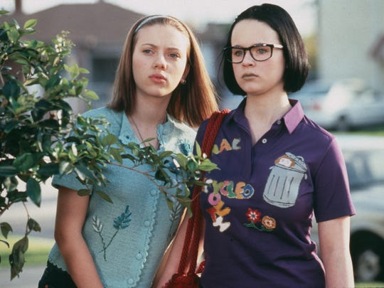 Scarlett Johansson (left) and Thora Birch in a scene from the 2001 film 'Ghost World.'