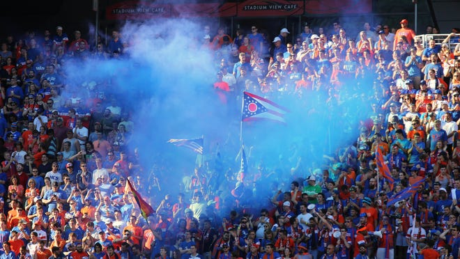 Pictured is The Bailey section at the FC Cincinnati friendly game against Crystal Palace prior to the start of the game at Nippert Stadium on the University of Cincinnati's campus.