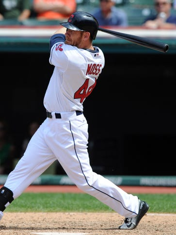 Brandon Moss will provide outfield and first base depth