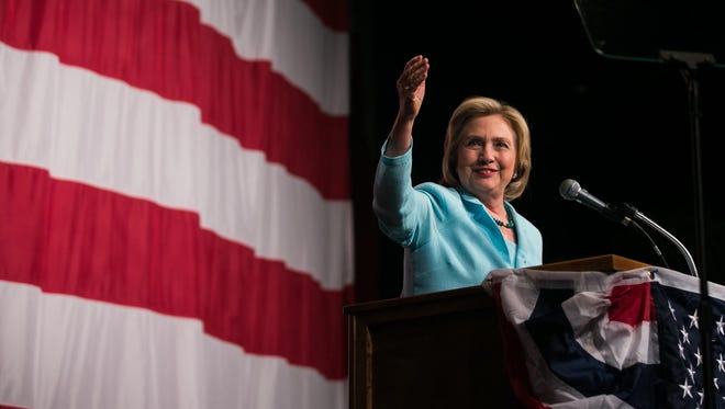 Hillary Clinton spoke about Iran and shot barbs at GOP candidates during the Iowa Democratic Wing Ding on Friday.