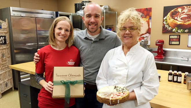 Tennessee Cheesecake founder Val Wilson, right, along with her son Will and daughter-in-law Becca, is continuing to see growth in the company's business.
