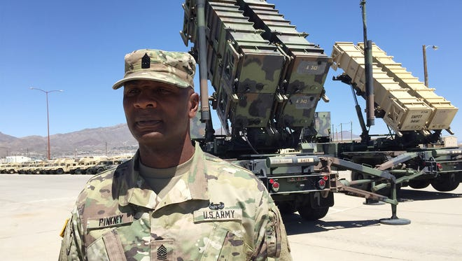 Command Sgt. Maj. Bryan A. Pinkney has been the senior enlisted leader for the 11th Air Defense Artillery Brigade for the past two years. He will relinquish the position on June 16.