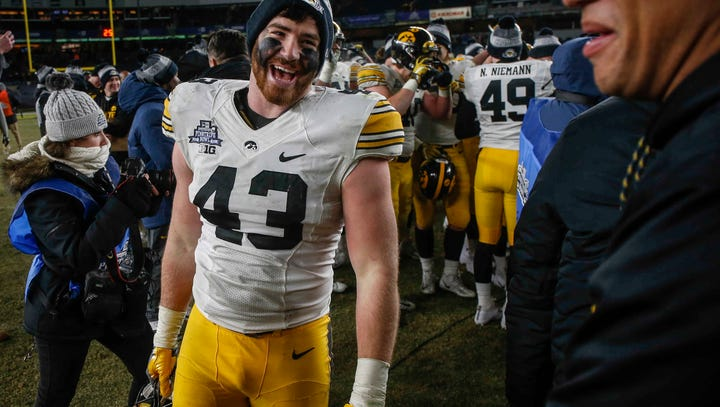 Iowa senior linebacker Josey Jewell is all smiles after
