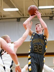 Jordan McGinnis of the Waupun High School boys basketball