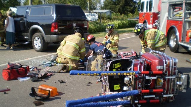 An Independence man was seriously injured in a crash on Highway 51 Sunday.