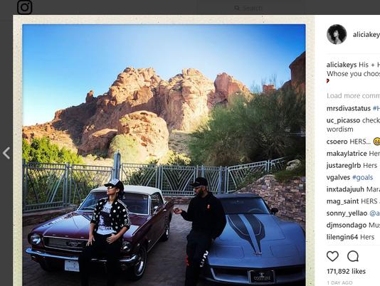 Alicia Keys Phoenix driveway
