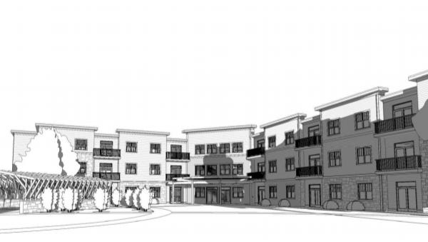 South Pointe Apartments would have two three-story buildings, each with around 30 units.