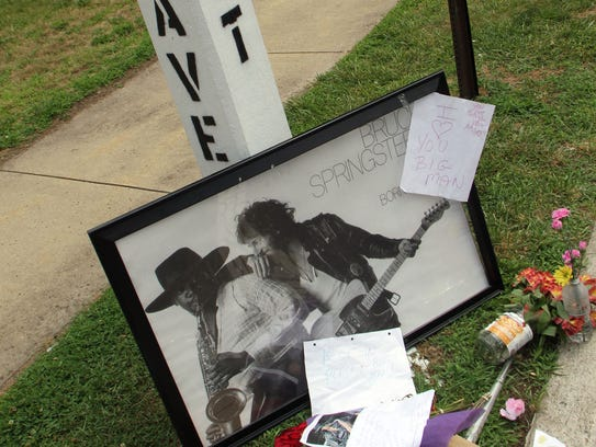 A tribute to the late Clarence Clemons at the corner