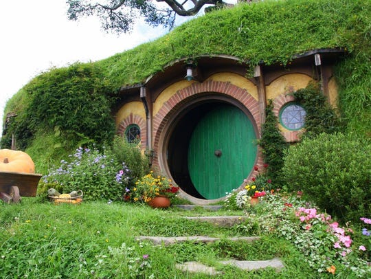 Hobbiton looks like it's right out of a movie — because