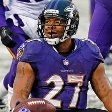 Ray Rice played six years for the Ravens before being cut.