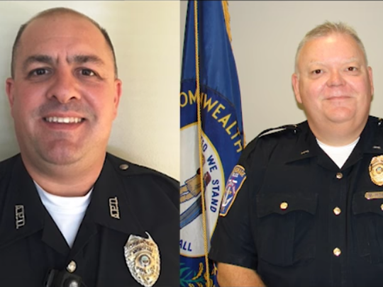 Anchorage Police Officers Brian Taylor (left) and Mark