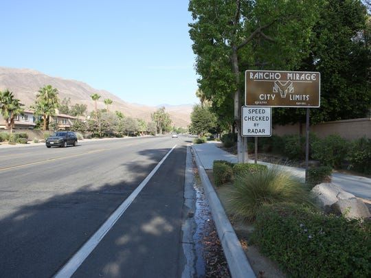 The path of the CV Link will incorporate an existing bike lane on Parkview Drive at the boundary of Palm Desert and Rancho Mirage heading into Palm Desert.
