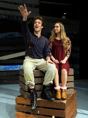 """Braden Clark (left) stars as Peter and Alexandra Chapman portrays Molly in Abilene Christian University's production of """"Peter and the Starcatcher,"""" which opens April 21 at ACU's Fulks Theatre.   photo taken 4/11/17"""