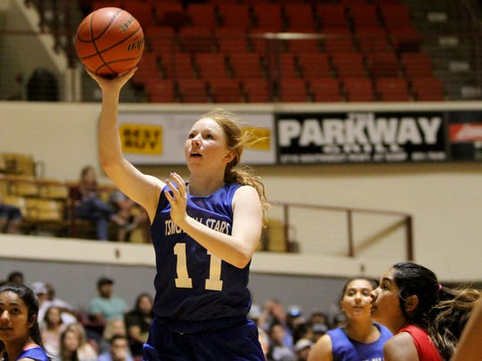 West's Madison Stockett puts up a jumper against the