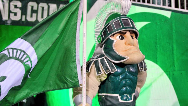 Michigan State Spartans mascot Sparty
